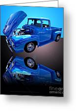 1956 Ford Blue Pick-up Greeting Card by Jim Carrell