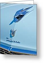 1956 Ford Fairlane Hood Ornament 3 Greeting Card by Jill Reger