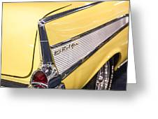 1957 Chevy Belair Greeting Card by Kathleen Nelson