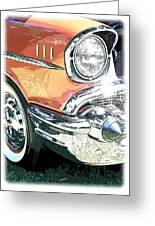 1957 Chevy Greeting Card by Steve McKinzie