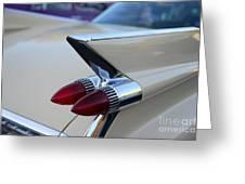 1958 Cadillac Tail Lights Greeting Card by Paul Ward