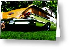 1958 Chevrolet Delray Greeting Card by Phil 'motography' Clark