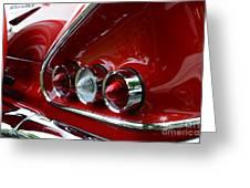 1958 Impala Tail Lights Greeting Card by Paul Ward