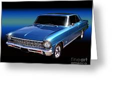 1967 Nova Ss Greeting Card by Peter Piatt
