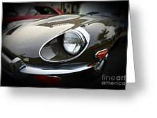 1973 Jaguar Type E Front Greeting Card by Paul Ward