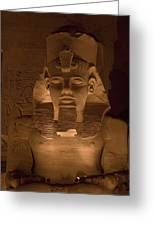 A Close View Of Ramses IIs Temple Greeting Card by Taylor S. Kennedy