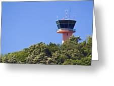 Airport Control Tower. Greeting Card by Fernando Barozza