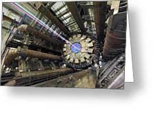 Atlas Detector, Cern Greeting Card by David Parker