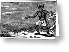 Bewick: Devil Greeting Card by Granger