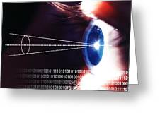 Biometric Eye Scan Greeting Card by Pasieka