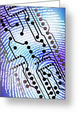 Biometric Fingerprint Scan Greeting Card by Pasieka