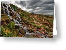 Brides Veil Waterfall Greeting Card by Fiona Messenger
