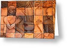 Buddha Image  Greeting Card by Panyanon Hankhampa