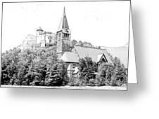 Burg Gutenberg And Church Balzers Liechtenstein Greeting Card by Joseph Hendrix