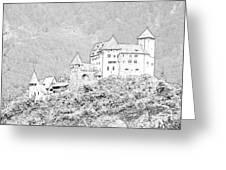 Burg Gutenberg Balzers Litchtenstein Greeting Card by Joseph Hendrix