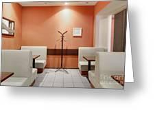 Cafe Dining Room Greeting Card by Magomed Magomedagaev
