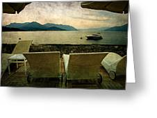 Canvas Chairs Greeting Card by Joana Kruse