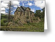 Chapel On The Rock Greeting Card by Michael Krahl