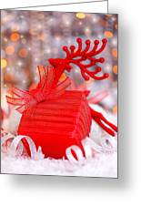 Christmas Gift Greeting Card by Anna Omelchenko