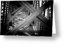 Crooked River Bridge  Greeting Card by Franklin Jeffers