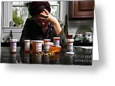 Depression And Addiction Greeting Card by Photo Researchers, Inc.