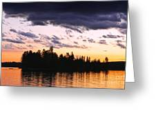 Dramatic Sunset At Lake Greeting Card by Elena Elisseeva