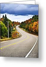 Fall Highway Greeting Card by Elena Elisseeva