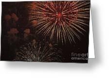 Fireworks Greeting Card by Juan  Silva