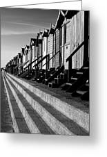 Frinton On Sea Beach Huts Greeting Card by Darren Burroughs