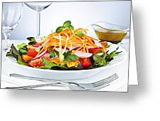 Garden Salad Greeting Card by Elena Elisseeva