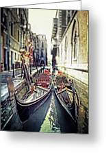 Gondolas Greeting Card by Joana Kruse