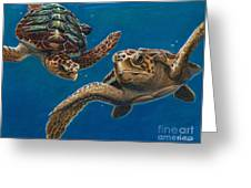 Hattie And A Friend Greeting Card by Deb LaFogg-Docherty