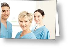 Hospital Staff Greeting Card by