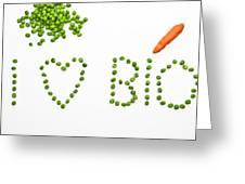 I Love Bio Greeting Card by Joana Kruse