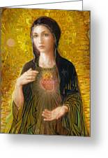 Immaculate Heart Of Mary Greeting Card by Smith Catholic Art