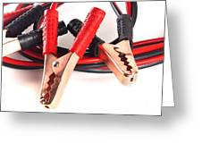 Jumper Cables Greeting Card by Blink Images