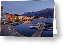 Lake Maggiore - Ascona Greeting Card by Joana Kruse
