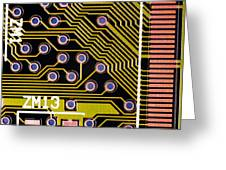 Macrophotograph Of A Circuit Board Greeting Card by Dr Jeremy Burgess