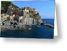 Manarola Greeting Card by Barbara Walsh