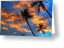 Maui Sunset Greeting Card by Kelly Wade