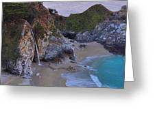 Mcway Falls - Big Sur Greeting Card by Stephen  Vecchiotti