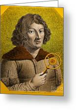 Nicolaus Copernicus, Polish Astronomer Greeting Card by Omikron