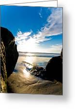 Ocean Beach Greeting Card by Mickey Clausen