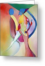 2 Of Us Facing Right Greeting Card by Peter Shor