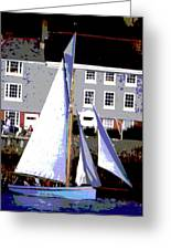 Oyster Boats Greeting Card by Brian Roscorla