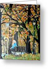 Peace In Central Park Greeting Card by Lynn Carlson