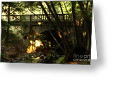 Pedestrian Bridge And Strawberry Creek  . 7d10132 Greeting Card by Wingsdomain Art and Photography