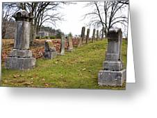 Pleasant Forest Cemetery Greeting Card by Paul Mashburn