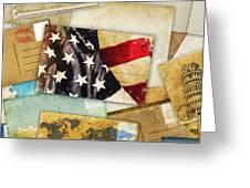 Postcard And Old Papers Greeting Card by Setsiri Silapasuwanchai