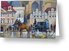 Prague Old Town Square 01 Greeting Card by Yuriy  Shevchuk